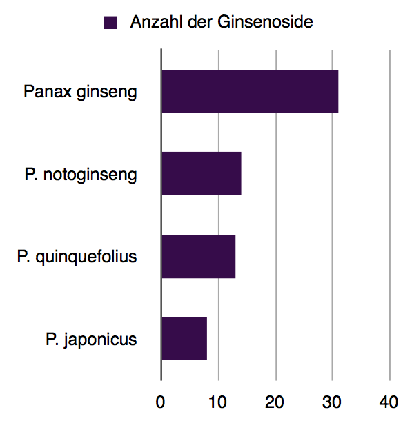 Ginsenoside Diagramm